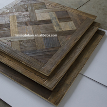 Alibaba indoor usage reclaimed parquet pattern oak engineered wood flooring