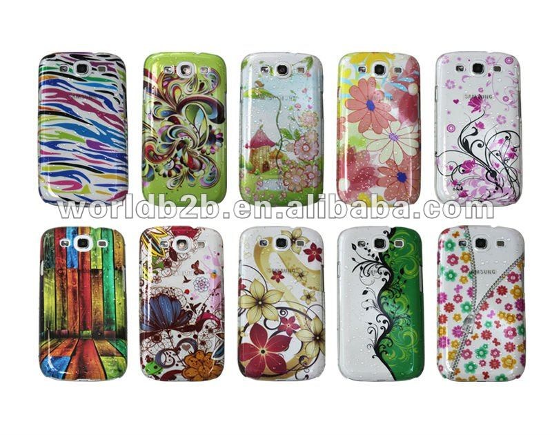 Clear Transparent Water Drop Print Skin Hard Back Case cover for Samsung Galaxy S3 i9300