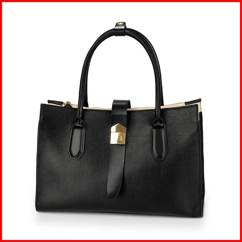 Alibaba china 2016 genuine leather ladies bags business handbags for women zipper bags hot sale in Dubai