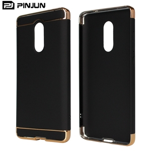 Hot selling electroplating pc 3 in 1 combo mobile phone cover for xiaomi redmi note 4x case back cover