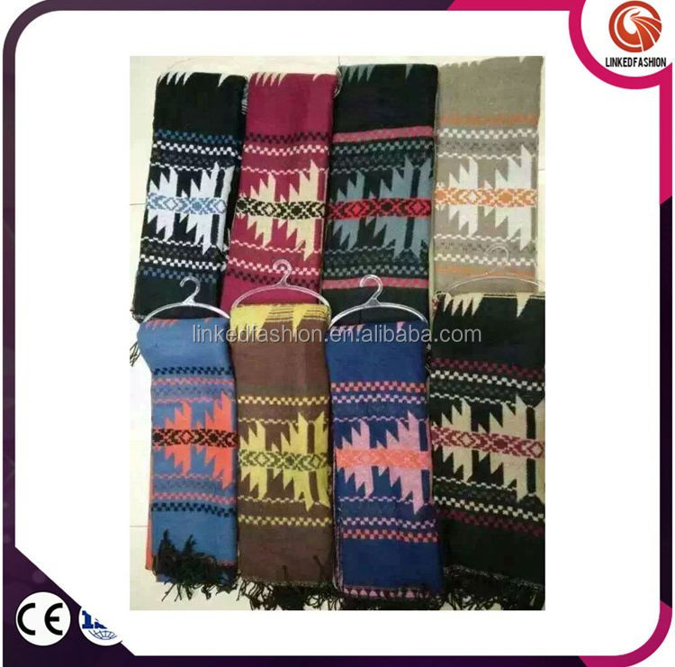 Wholesale long women winter knit lurex scarf