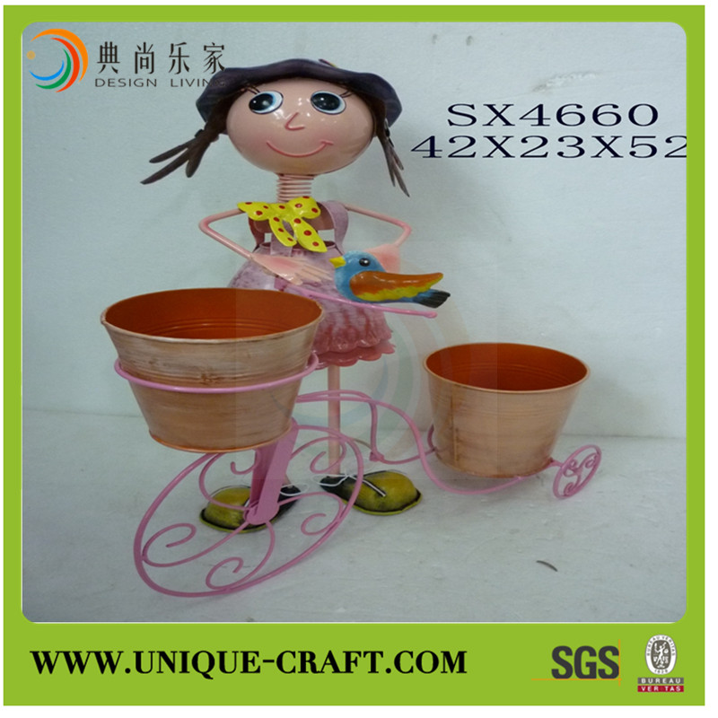 new product alibaba china supplier home decor garden plant bicycle flower pot holder