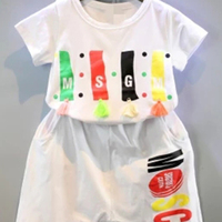 Low Cost Cotton Cartoon Printing Thin Matching Clothing Sets for Boys