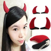 Fancy ladies christmas antlers dragon horn BB hair clip
