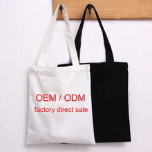 Stock High quality 12oz customized logo cotton tote bag promotion cotton canvas bag Tote Shopping Bags