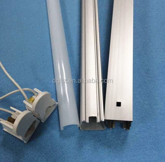 HOT!!! CE RoHS T5 1200mm 3years warranty T5 integrated led tube housing (Cover+ Aluminum)