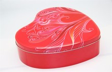 Big Heart Shape Chocolate/Mooncake/Candy Packaging Tin Can