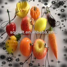 Artificial fake fruits and vegetables keychain/hanging pendant/phone straps