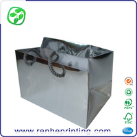 gift silver paper bag foil, christmas luxury paper bag