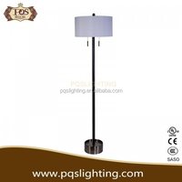 white clear modern living room floor lamp