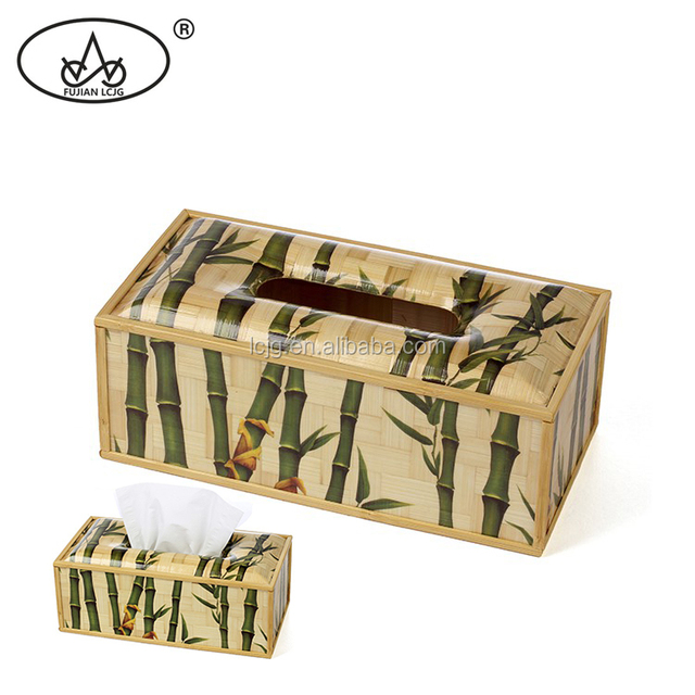 Factory price cheap custom container tissue box packaging bamboo