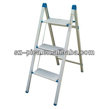 EN131 standard 3 Steps aluminum folding Ladder