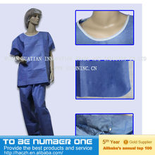 disposable scrub suit..medical scrub suits for men..chinese collar scrub suit