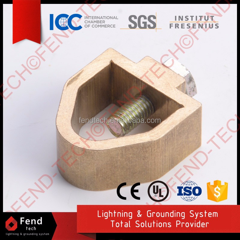 High Strength Copper Big Flat Tape to Ground Rod Clamp