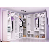 Chinese supplier lasrt free design fancy style portable wood closet
