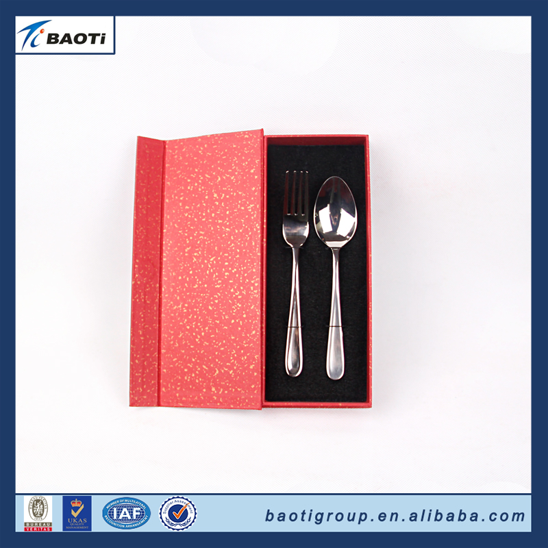 2017 latest design eco-Friendly titanium personal spahetti spoon and fork for tableware