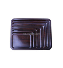 Wooden Paper Rectangle Serving Tray,Melamine Tray for Food