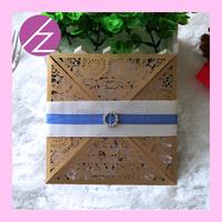 2016 New Design Laser Cut Paper Craft ramadan greeting card Wedding Invitation Card QJ-54