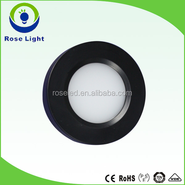 UL/CUL list dimmable 3w led puck light under cabinet light