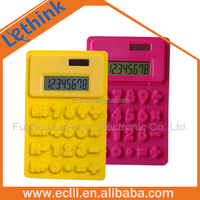 HOT SALE foldable silicone calculator colorful flexible rubber calculator mini scientific calculator