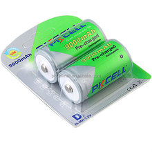 High capacity low self discharge 1.2V D nimh 9000mah rechargeable battery toy flashlights battery