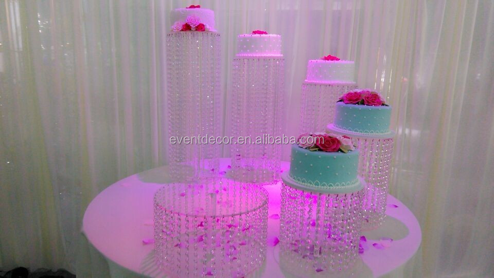 crystal chandelier wedding cake stand , acrylic cake stand for wholesale