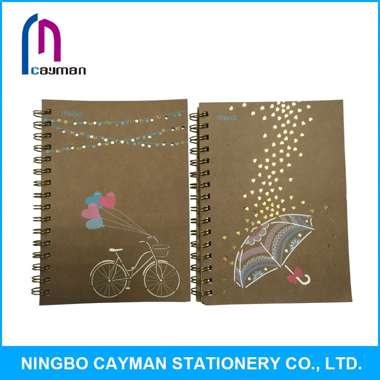 New design factory price single wholesale paper notebooks