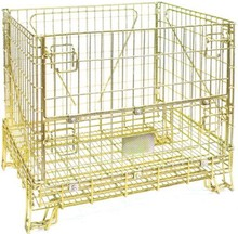 Industrial stackable storage wire mesh ball cage storage