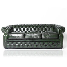 Large 3 seater sofa in dark green