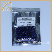 Loose Synthetic Diamonds Blue Corundum gemstones for sale