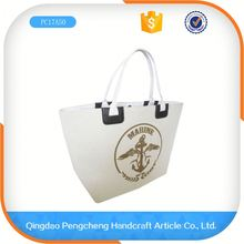 Latest Arrival Trend Leather Fashion Jute Shopping Bag Wholesale Canvas Bag