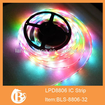 dream color digital lpd8806 rgb led strip 5050
