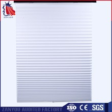 Factory Wholesale Polyester Fabric Cordless Pleated Blinds