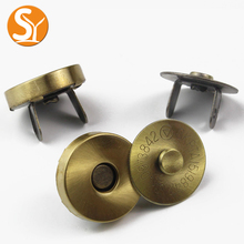 Handbag hardware 18mm metal magnetic snap button magnetic clasps closure for bags