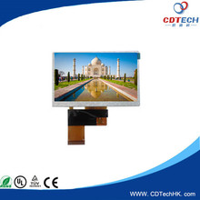 4.3 inch 480*272 tft lcd display panle with rgb interface