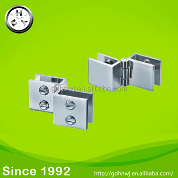 Promotion zinc alloy glass hinge Chrome