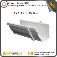 Low Price Color Durable Plastic PVC Rain water gutter and downpipe, gutter connector price/gutter joiner/gutter channel