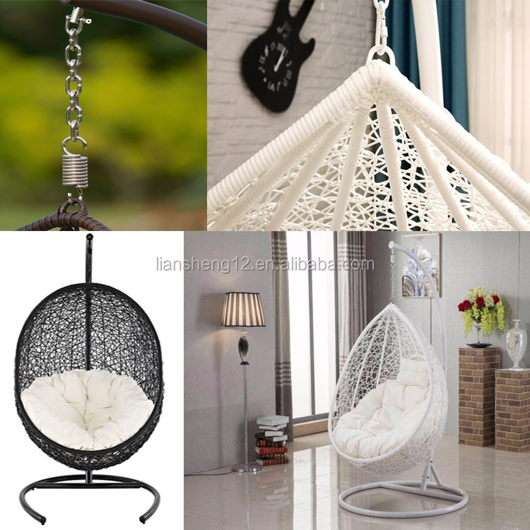 Adult High Weight Bearing PE Rattan Hanging Chair With Stand