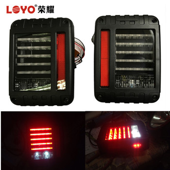 Smoked and Clear Lens LED Brake Tail Lights Rear Signal Reverse Lamps for Jeep Wrangler