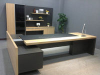 modular office desk with random height and angle adjustable teak desk