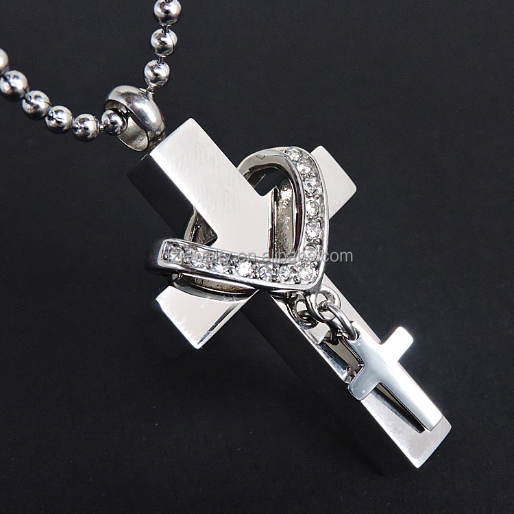 DZ1156 cheap factory supplied double cross wholesale cremation urns pendant jewelry for ashes