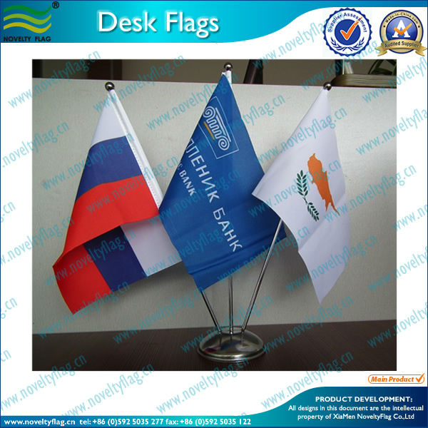 three holder stand table flags