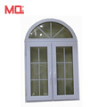 pvc arch casement window with grid