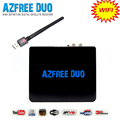 2016 Internet smart satellite TV receiver azfree duo support double wifi antena work for South America