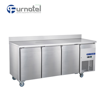 FRUC-5-1 FURNOTEL Undercounter Refrigerator 3 Doors Fancooling Chiller with Backsplash