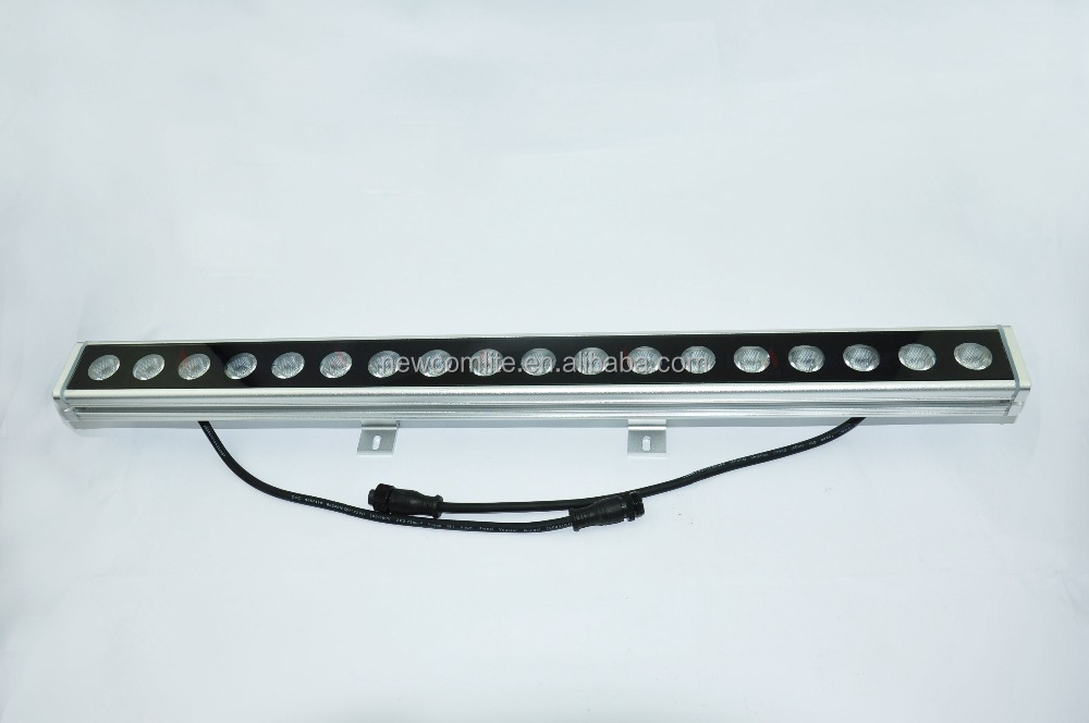 outdoor lighting 18pcs 18w 3in1rgb ip65 led linear wall washer housing floor light