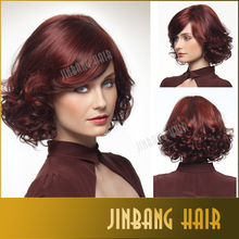 Hot selling heat resistant African American synthetic Wig middle age women natural short curly synthetic hair wigs