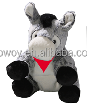 imprinted baby donkey sitting gray embroidery promotional plush stuffed soft custom logo baby donkey sitting gray beanbag 551