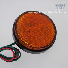 CH-2028-3 Chenghao 24 SMD Motorcycle tail reflector Led Light amber Round Safety Mini LED Reflector for all Motorcycle