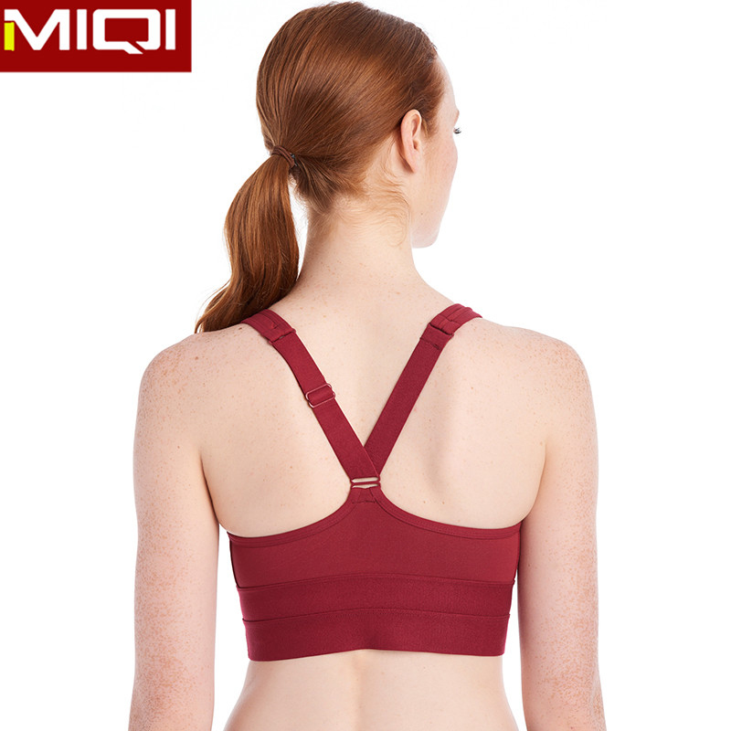High quality custom active fitness running cheap wholesale sports bra